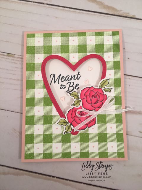 libbystamps, Stampin' Up!, Buffalo Check, Tea Together, Be Mine Stitched Framelits, Tea Time Framelits, Blends, Heart Epoxy Droplets, CCMC