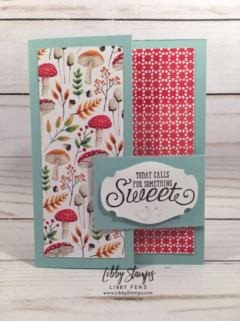 libbystamps, Stampin' Up!, More than Words, Painted Seasons DSP, Story Label Punch, Heart Epoxy Droplets, CCMC, Sale-a-bration