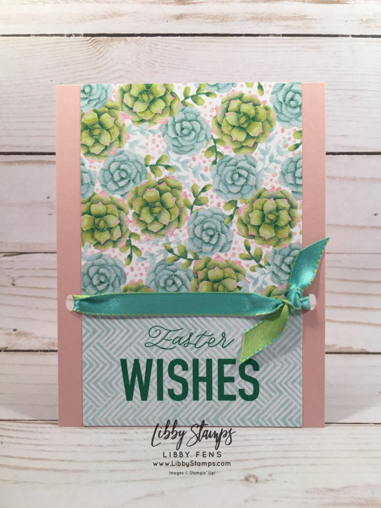 libbystamps, Stampin' Up!, More than Words, Painted Seasons DSP, Detailed Trio Punch, Coastal Cabana/Granny Apple Green 3/8 Reversible Ribbon, BFBH, Easter