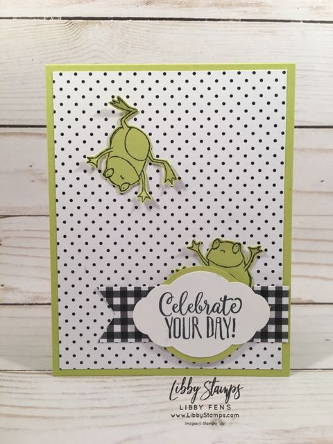 libbystamps, Stampin' Up!, So Hoppy Together, Hello Cupcake, Botanical Butterfly, Banner Triple Punch, Pretty Label Punch, BFBH, Blogging Friends Blog Hop