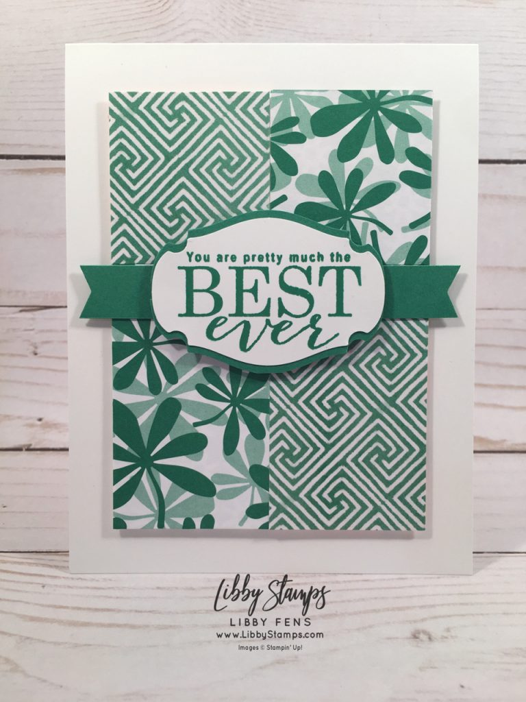 libbystamps, Stampin' Up!, All Adorned, Story Label Punch, Painted Seasons DSP, Happiness BloomsDSP, CCMC