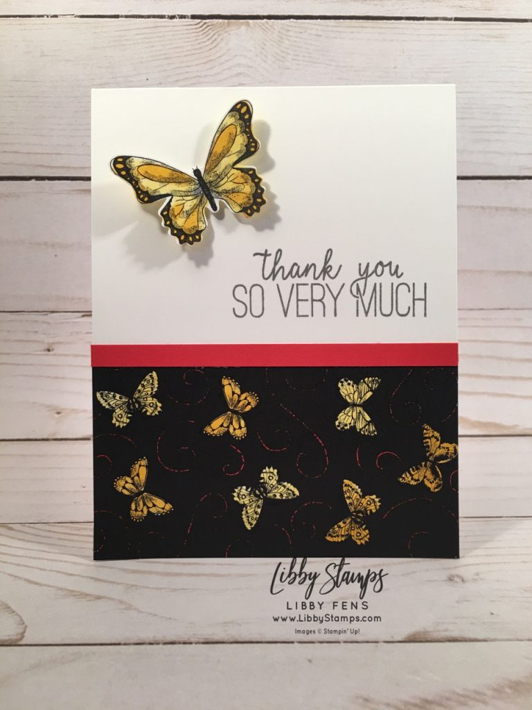 libbystamps, Stampin' Up!, Butterfly Gala, Butterfly Duet Punch, Butterfly Gala Bundle, Botanical Butterfly DSP