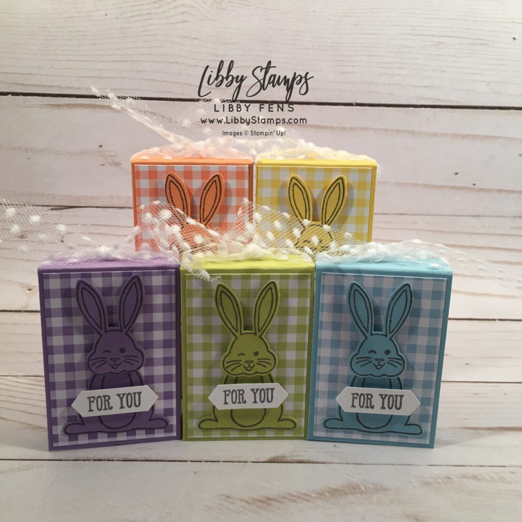 libbystamps, Stampin' Up!, Best Bunny, Well Said Words, Best Bunny Bundle, Gingham Gala 6x6 DSP, Bunny Builder Punch, Classic Label Punch, Whisper White 5/8 Polka Dot Tulle ribbon, The Joy of Sets