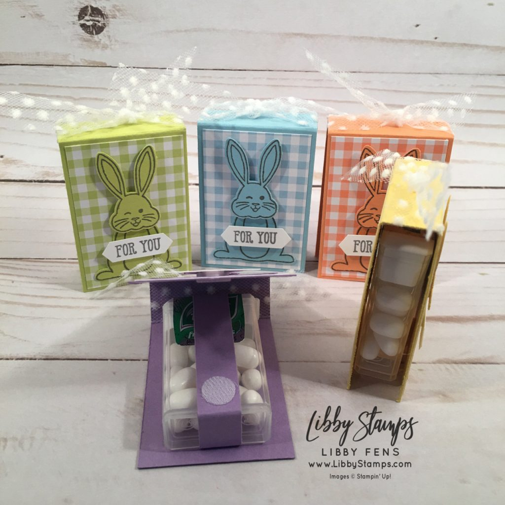 libbystamps, Stampin' Up!, Best Bunny, Well Said Words, Best Bunny Bundle, Gingham Gala 6x6 DSP, Bunny Builder Punch, Classic LabelPunch, Whisper White 5/8 Polka Dot Tulle ribbon, The Joy of Sets
