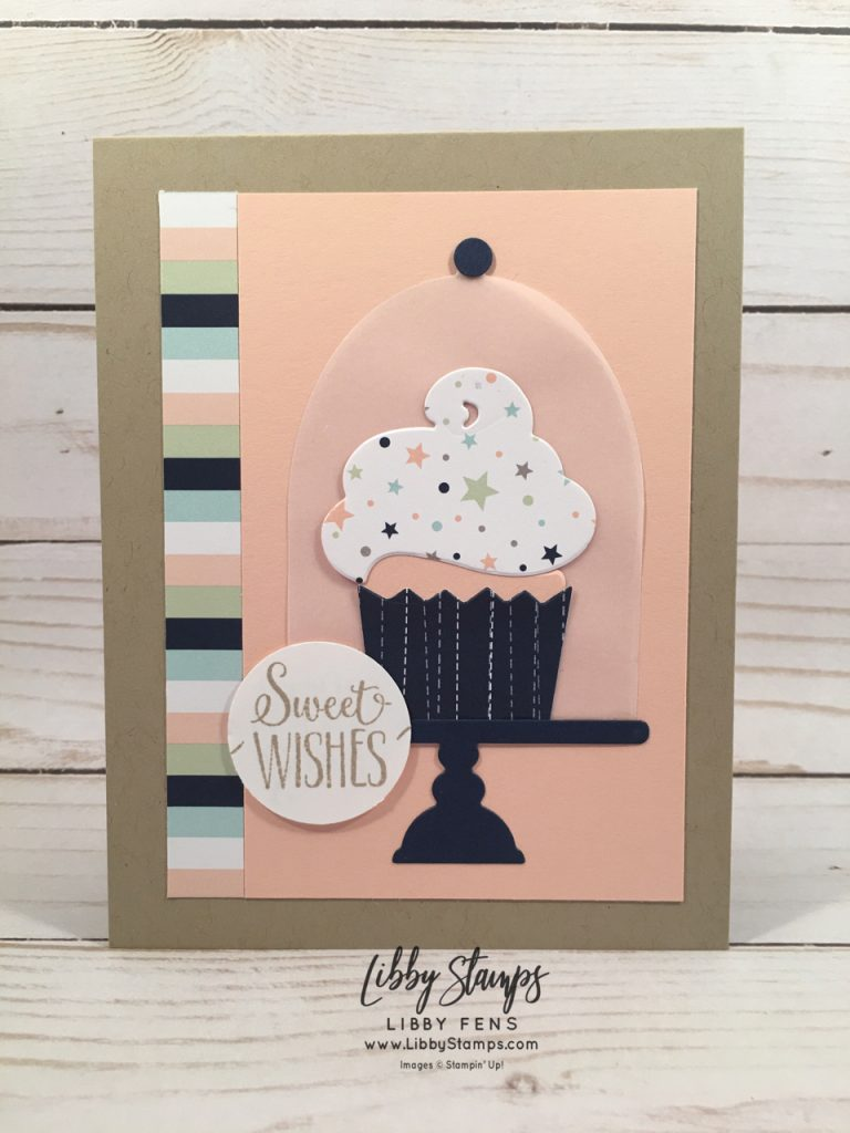 libbystamps, Stampin' Up!, Hello Cupcake, Call Me Cupcake Framelits, Twinkle Twinkle DSP, Sale-a-bration