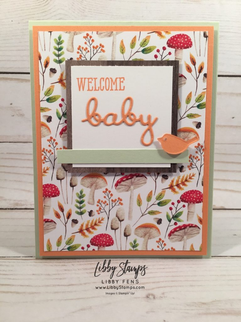 libbystamps, Stampin' Up!, Well Said, Well Written Framelits, Well Said Bundle, Painted Seasons DSP, Wood Textures DSP, TSOT