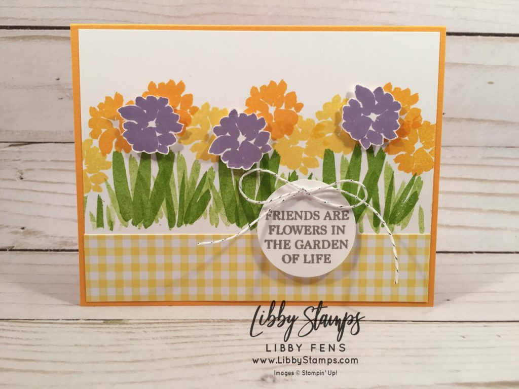 libbystamps, Stampin' Up!, Abstract Impressions, A Big Thank You, Gingham Gala 6x6 DSP, Spring, Kre8tors Blog Hop