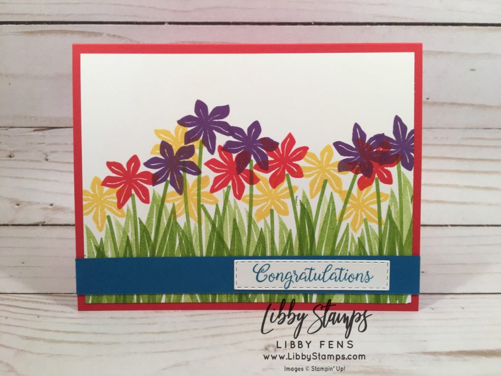 libbystamps, Stampin' Up!, Beautiful Bouquet, Rectangle Stitched Framelits, CCMC