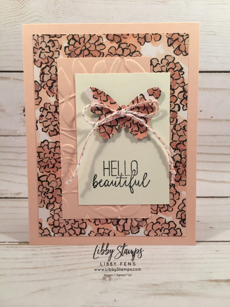 libbystamps, Stampin' Up, Butterfly Gala, Butterfly Gala Bundle, Share What You Love DSP, Butterfly Duet Punch, Silver & Petal Pink Baker's Twine