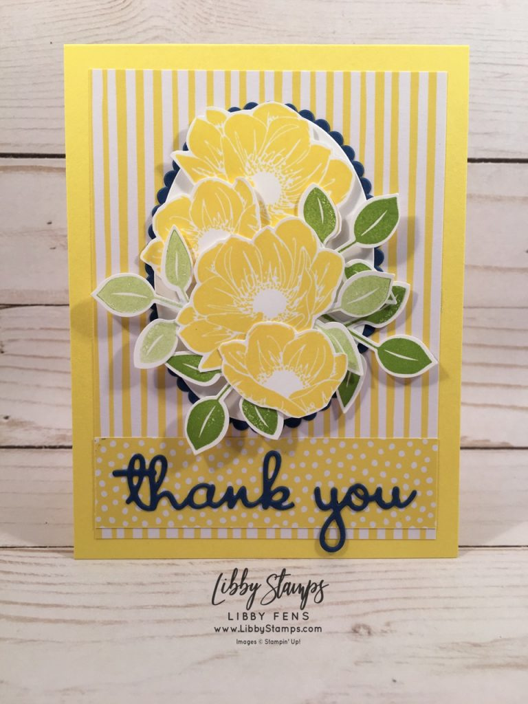 libbystamps, Stampin' Up!, Floral Essence, Well Written Framelits, Leaf Punch, In Color 2018-2020 6x6, CCMC