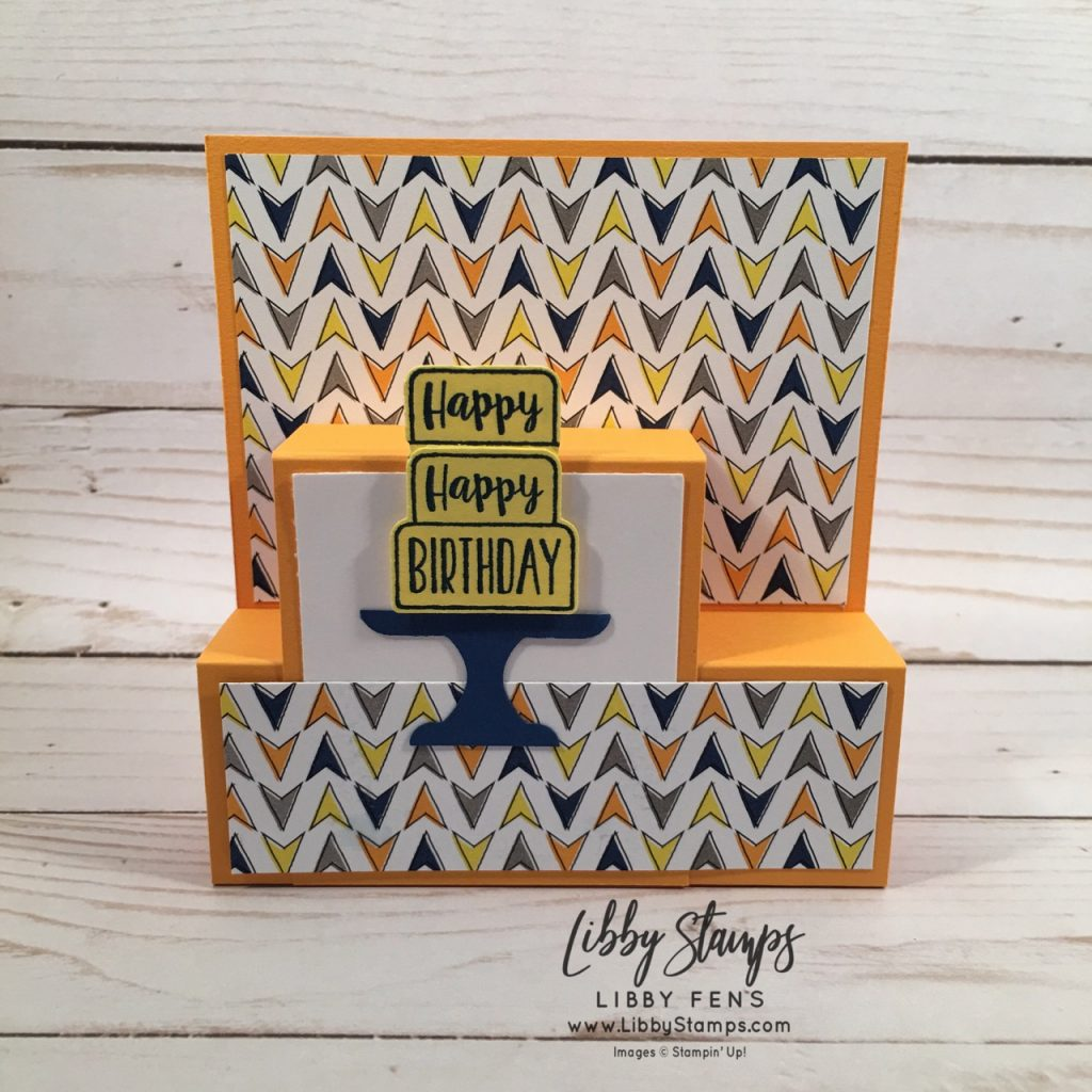 libbystamps, Stampin' Up!, Piece of Cake, Piece of Cake Bundle, Best Route DSP, Cake Builder Punch, CCMC