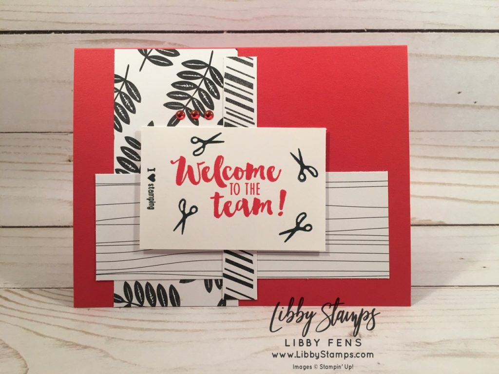 libbystamps, Stampin' Up!, Stamping Your Way to the Top, Apron of Love, Tropical Escape 6x6 DSP, TSOT
