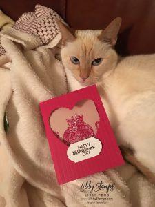 libbystamps, Stampin' Up!, Nine Lives, Sentimental Rose, Stitched Be Mine, All My Love DSP, Cat Punch, Simply Scored, April 2019 Paper Pumpkin kit Sentimental Rose, Timeless Label Punch, Kre8tors Blog Hop
