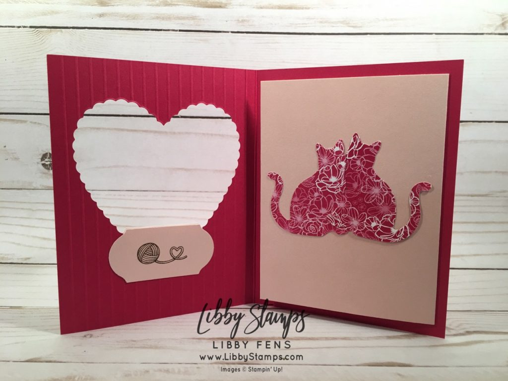 libbystamps, Stampin' Up!, Nine Lives, Sentimental Rose, Stitched Be Mine, All My Love DSP, Cat Punch, Simply Scored, April 2019 Paper Pumpkin kit Sentimental Rose, Timeless Label Punch, Kre8tors Blog Hop