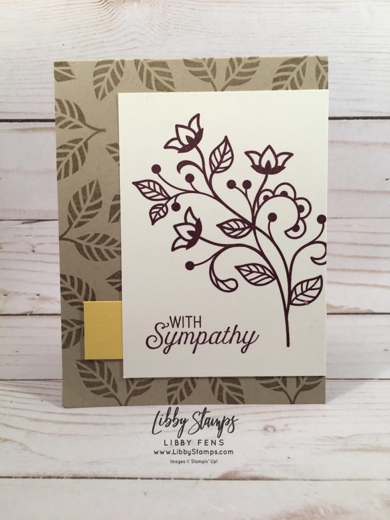 libbystamps, Stampin' Up, Flourishing Phrases, Stamparatus, sympathy, CCMC