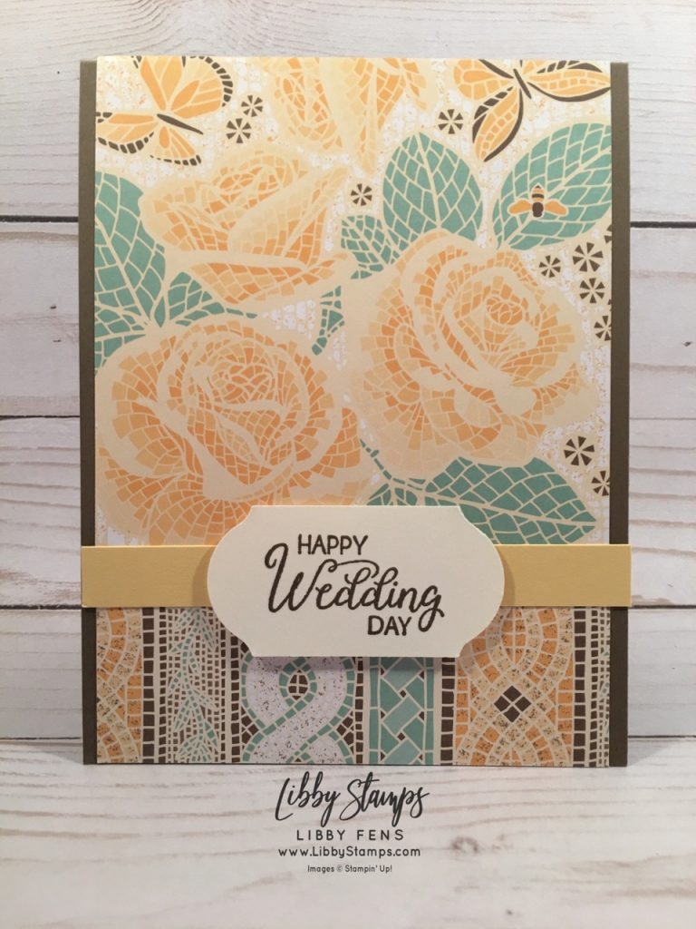 libbystamps, Stampin' Up!, Beautiful Bouquet, Mosaic Mood Specialty DSP, Mosaic Mood DSP, Timeless Label Punch, CCMC