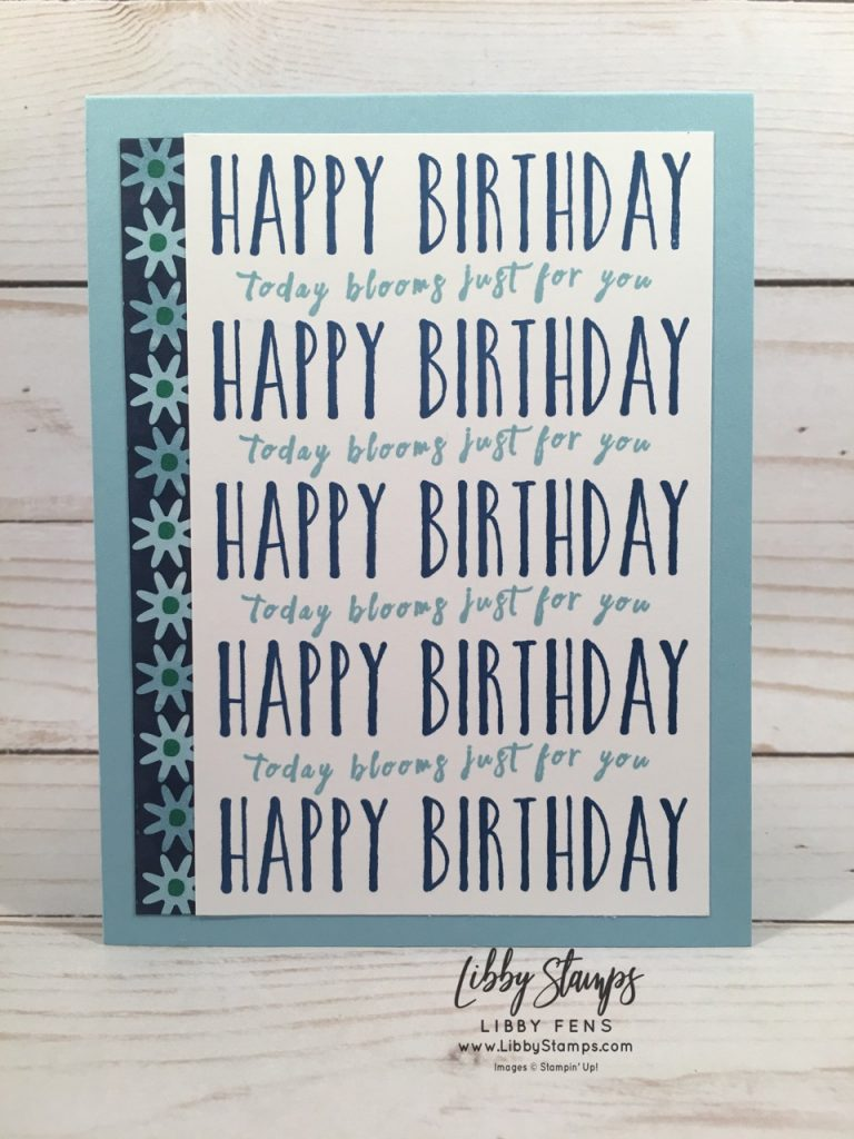 libbystamps, Stampin' Up!,Perennial Birthday, Happiness Blooms DSP, Stamparatus, Blends, CCMC