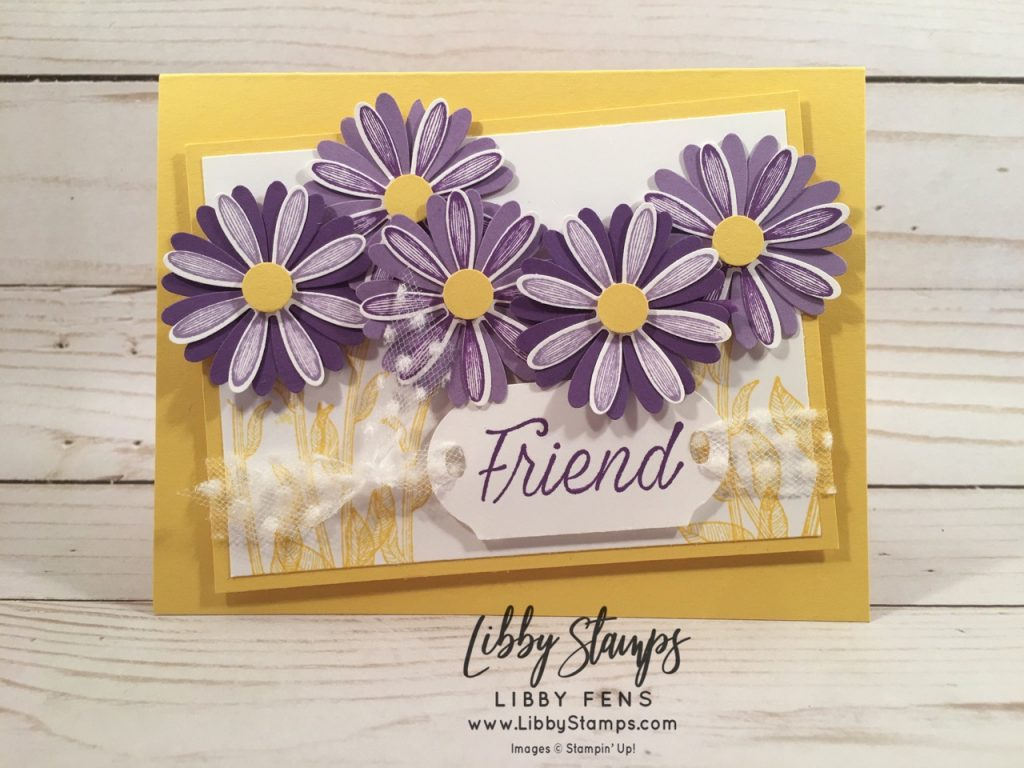 libbystamps, Stampin' Up!, Daisy Lane, Daisy Lane Bundle, Medium Daisy Punch, Timeless Label Punch, Detailed Trio Punch, CCMC