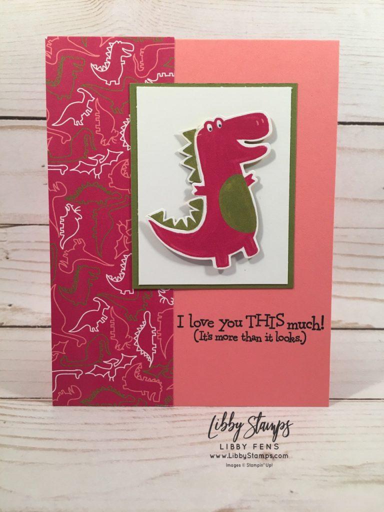 libbystamps, Stampin' Up!, Dino Days, Dino Dies, Dino Days Bundle, Dinoroar Suite, Dinoroar DSP, BFBH