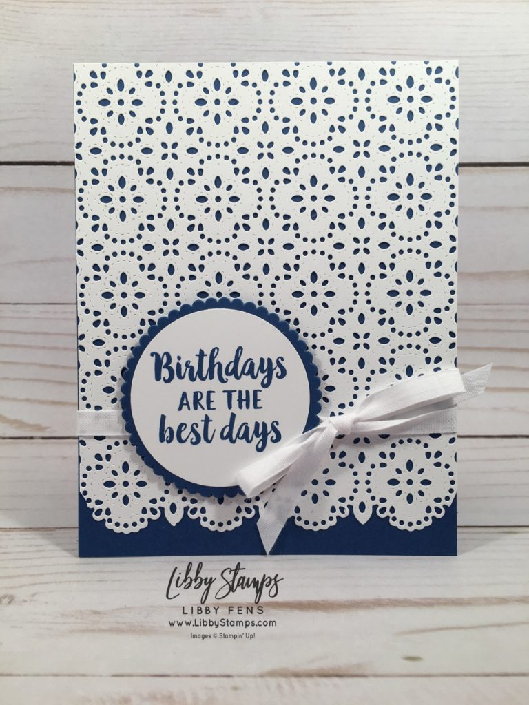 "libbystamps, Stampin' Up!, Beautiful Friendship, Stitched Lace Dies, 2"" Circle Punch, Starburst Punch"