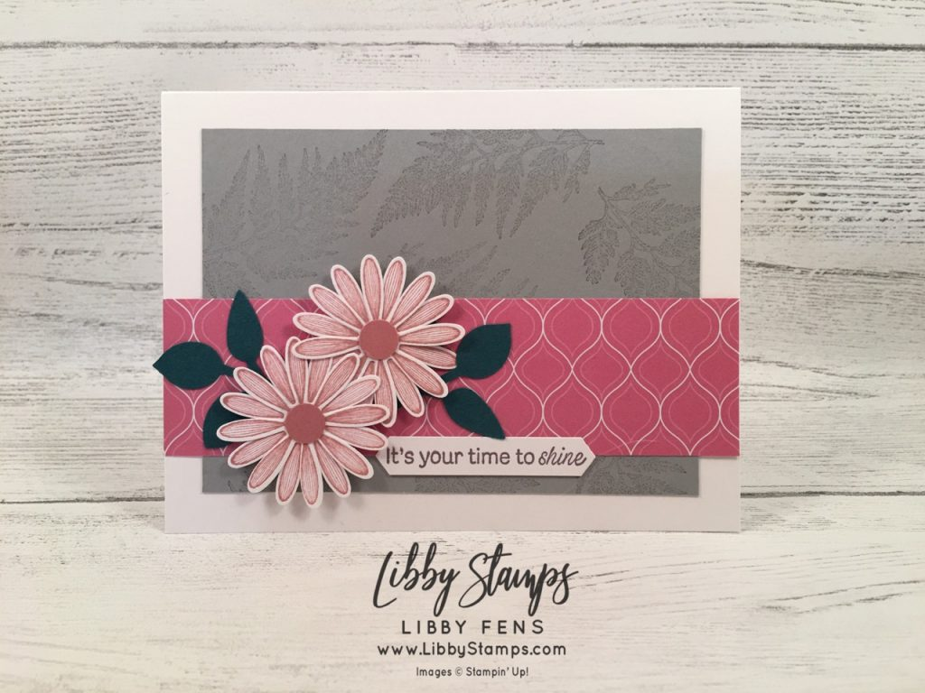 libbystamps, Stampin' Up!, Daisy Lane, Daisy Lane Bundle, 2019-2020 in Color 6x6 DSP, Medium Daisy, Leaf Punch