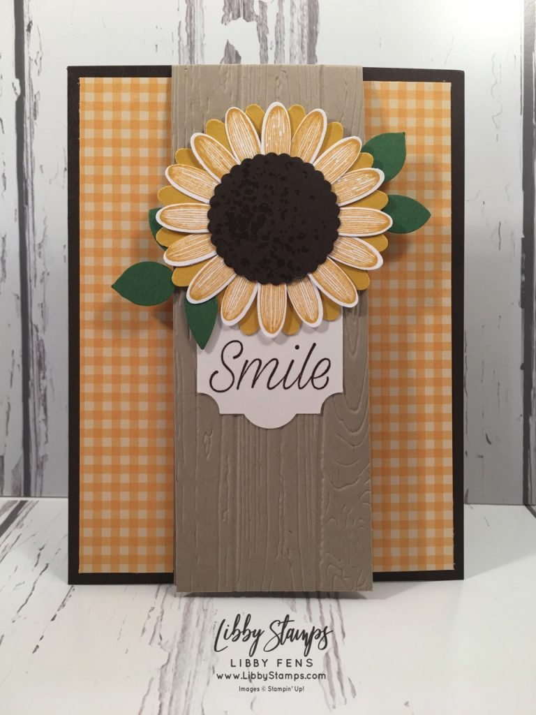 libbystamps, Stampin' Up!, Daisy Lane, Artisan Textures, Pinewood Planks EF, Regals 6x6 DSP, Daisy Punch, 1 3/8 Scallop Circle Punch, Leaf Punch, Everyday Label Punch, CAS Colours & Sketches #329
