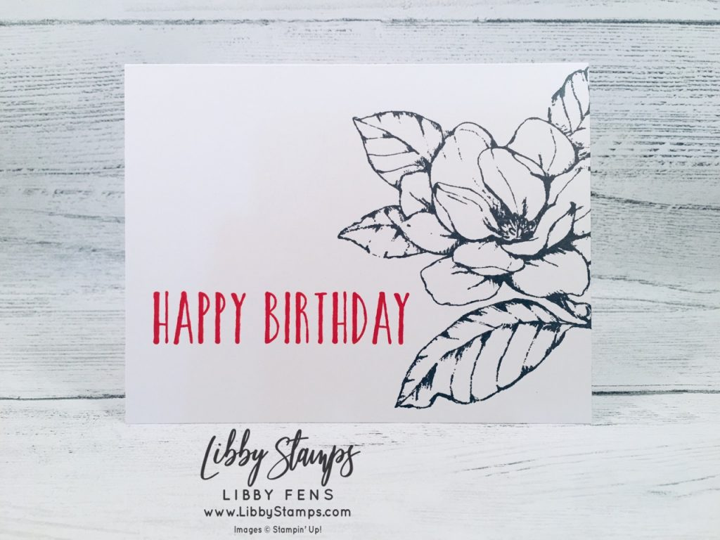 libbystamps, Stampin' Up!, Good Morning Magnolia, Perennial Birthday, CCMC, #simplestamping
