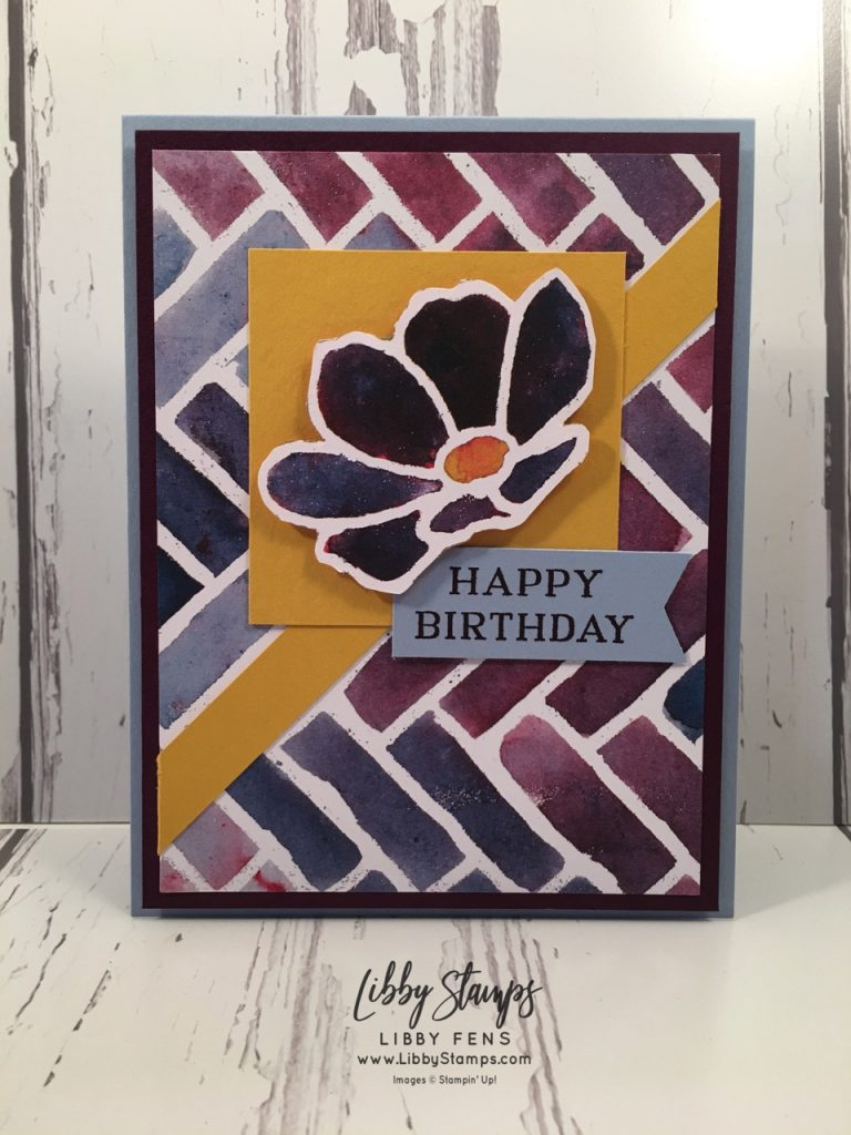 libbystamps, Stampin' Up!, Perennial Birthday, See a Silhouette DSP, Tailored Tag Punch, Atlantic Hearts Challenge Blog