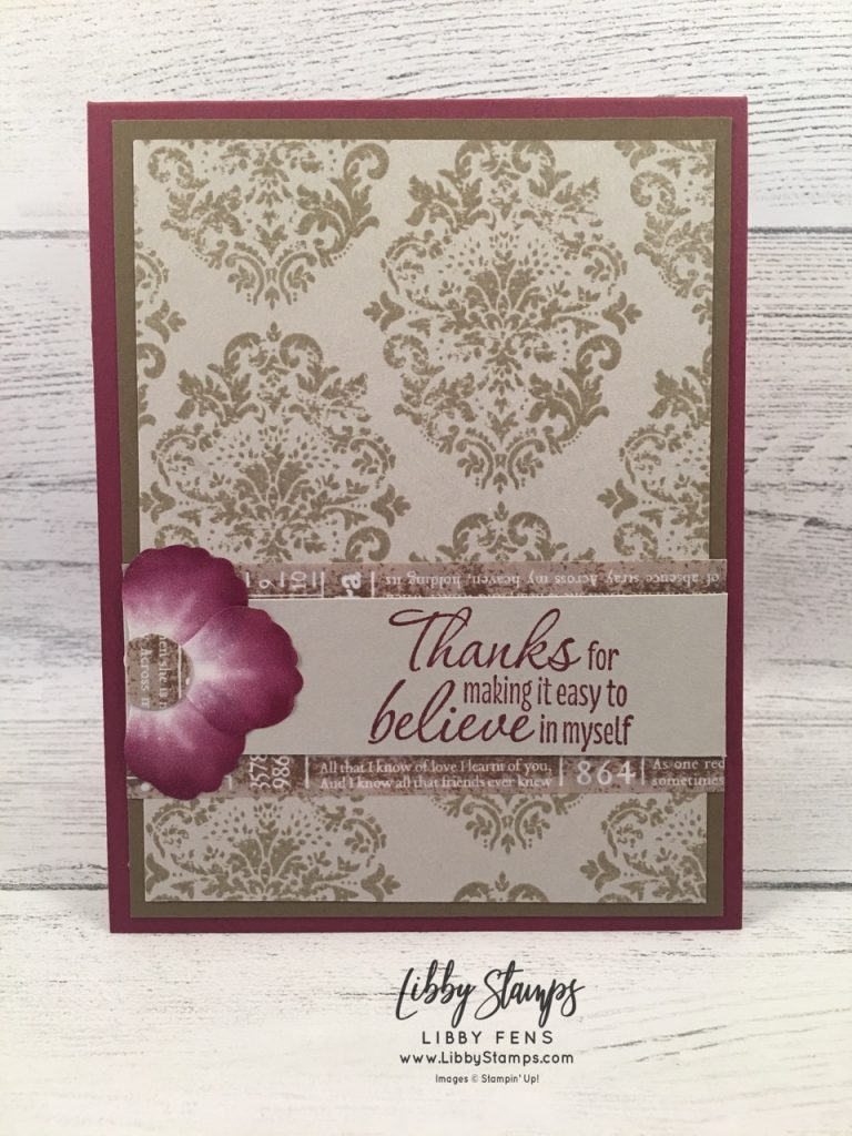 libbystamps, Stampin' Up!, Tasteful Textures, Pressed Petals Specialty Washi Tape, CCMC