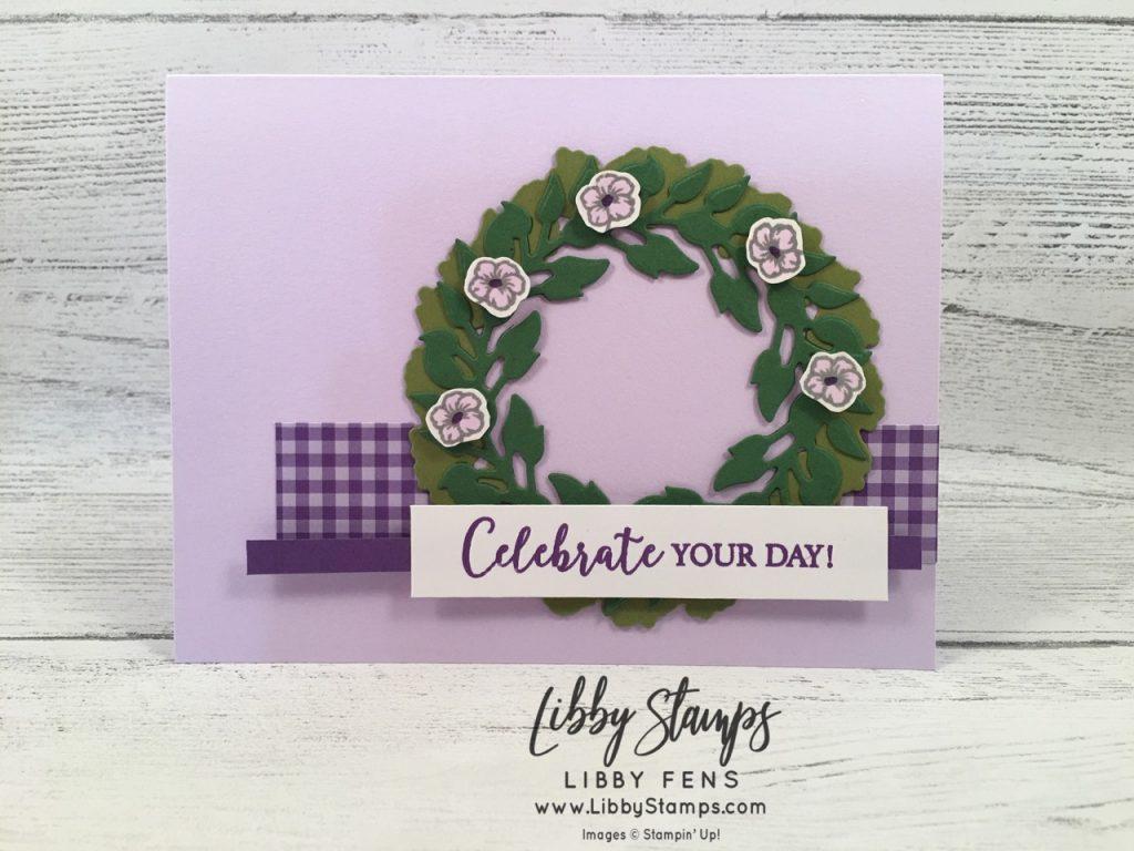 libbystamps, Stampin' Up!, Seasonal Wreaths, All Around Wreath Dies, 2019-2021 In Color 6x6 DSP Stack, CCMC,