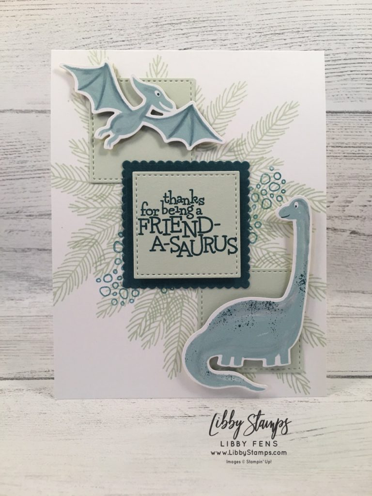 libbystamps, Stampin' Up!, Dino Days, Dino Days Bundle, Dino Dies, Stitched Shapes Dies, Dinoroar DSP, CCMC
