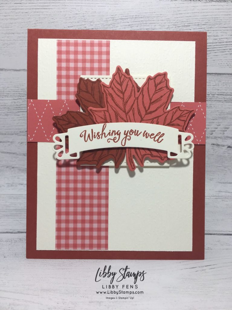 libbystamps, Stampin' Up!, Gather Together, Gathered Leaves Dies, Gather Together Bundle, Subtle EF, Doily Wishes Dies, 2019-2021 6x6 In Color DSP, TSOT