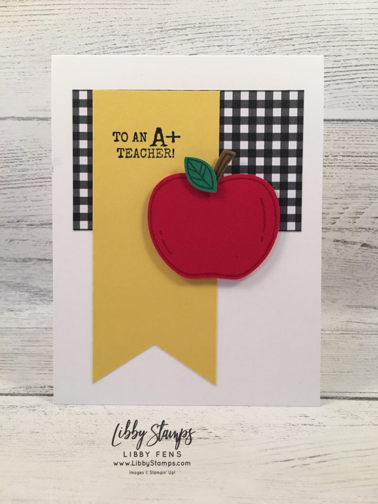 libbystamps, Stampin' Up!, Harvest Hellos, Harvest Hellos Bundle, Botanical Butterfly DSP, Apple Builder Punch, TSOT, back to school
