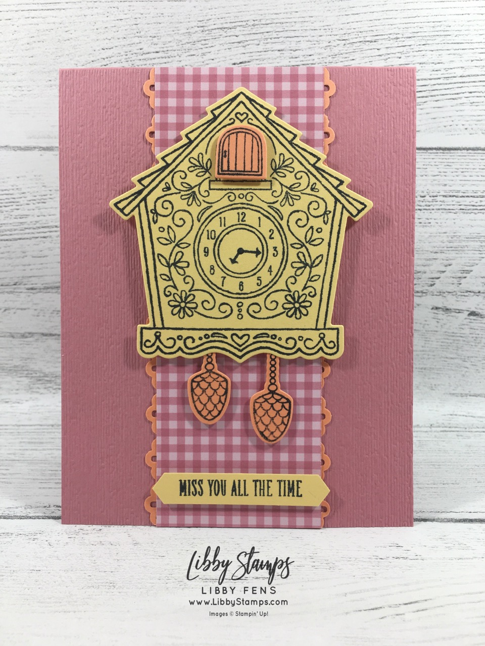 libbystamps, Stampin' Up!, Cuckoo For You, Cuckoo Clock Dies, Cuckoo For You bundle, 2019-2021 In Color 6x6 DSP Stack, Classic Label Punch, CCMC