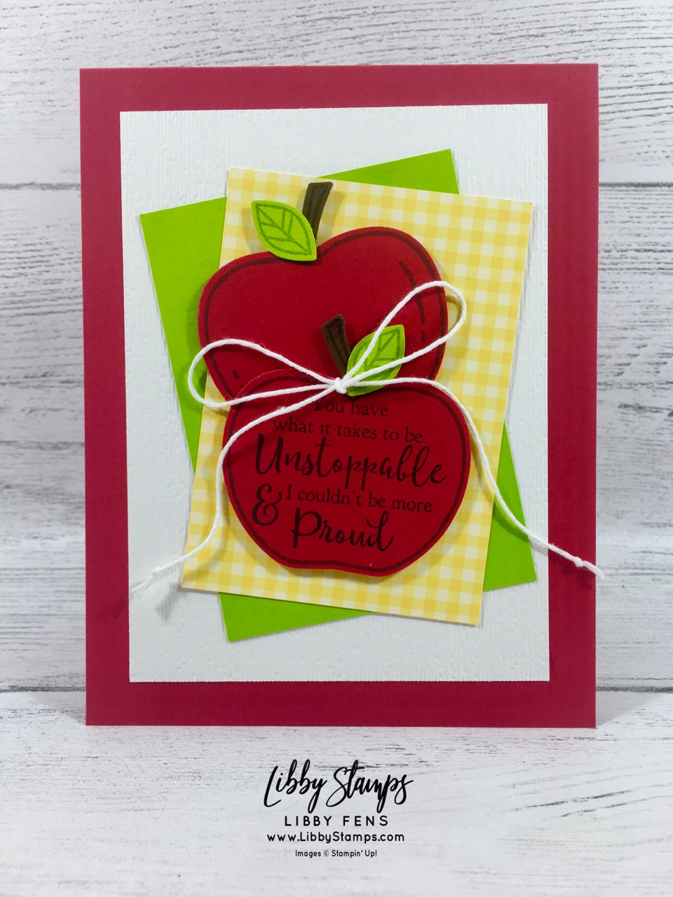 libbystamps, Stampin' Up!, Harvest Hellos, Apple Builder Punch, Harvest Hellos Bundle, Strong & Beautiful, Subtle EF, Brights 6x6 DSP, CCMC