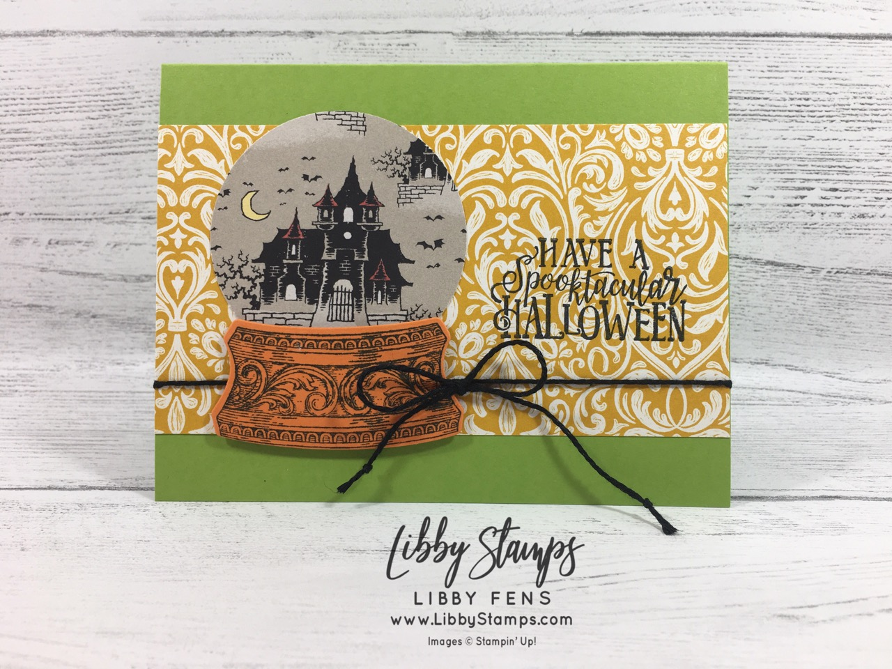 libbystamps, Stampin' Up!, Still Scenes, Spooktacular Bash, Still Scenes Bundle, Monster Bash DSP, Halloween
