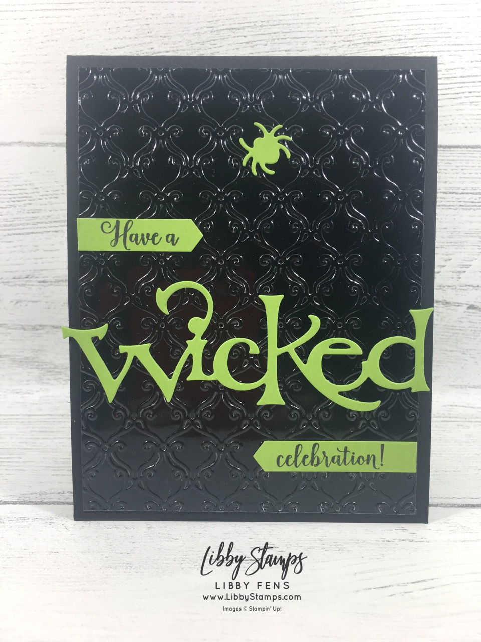 libbystamps, Stampin' Up!, Wonderfully Wicked, Wicked Dies, Wonderfully Wicked Bundle, Classic Label Punch