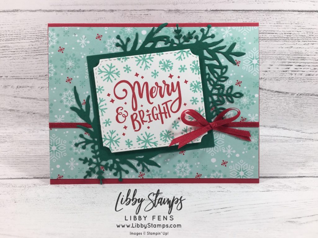 libbystamps, Stampin' Up!, Everything Festive, Snowman Season, Frosted Frames Dies, Everything Festive, Let It Snow DSP, CCMC