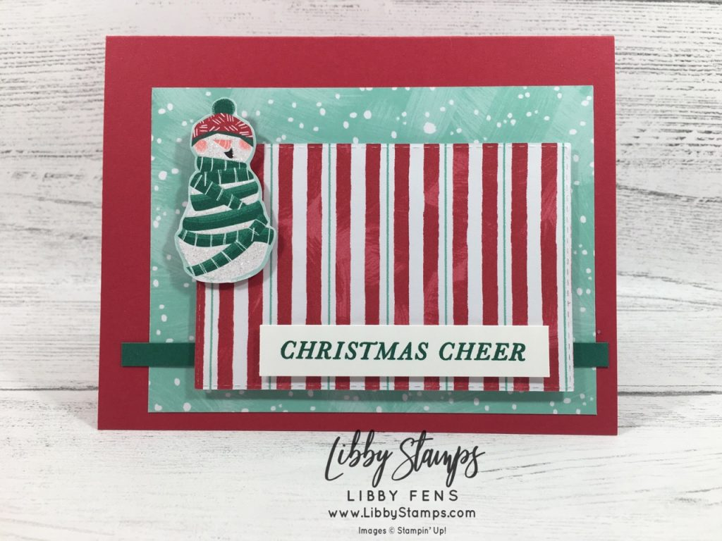 libbystamps, Stampin' Up!, Tidings All Around, Let It Snow DSP, CCMC