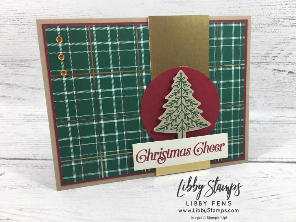 libbystamps, Stampin' Up!, Perfectly Plaid, Perfectly Plaid Bundle, Pine Tree Punch, Wrapped in Plaid DSP, TSOT