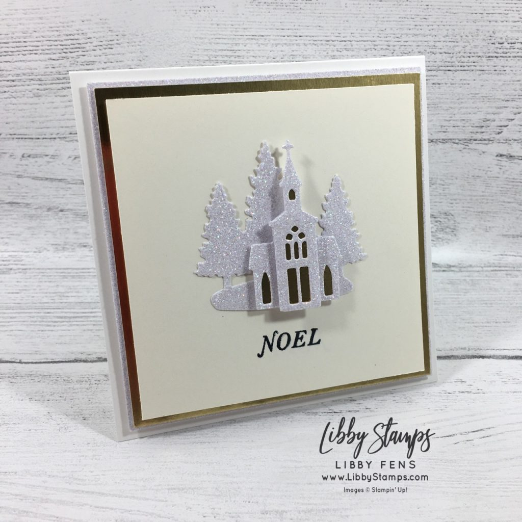 libbystamps, Stampin' Up!, Tidings All-Around, Snow Globe Scenes Dies, square card, Joy of Sets Blog Hop