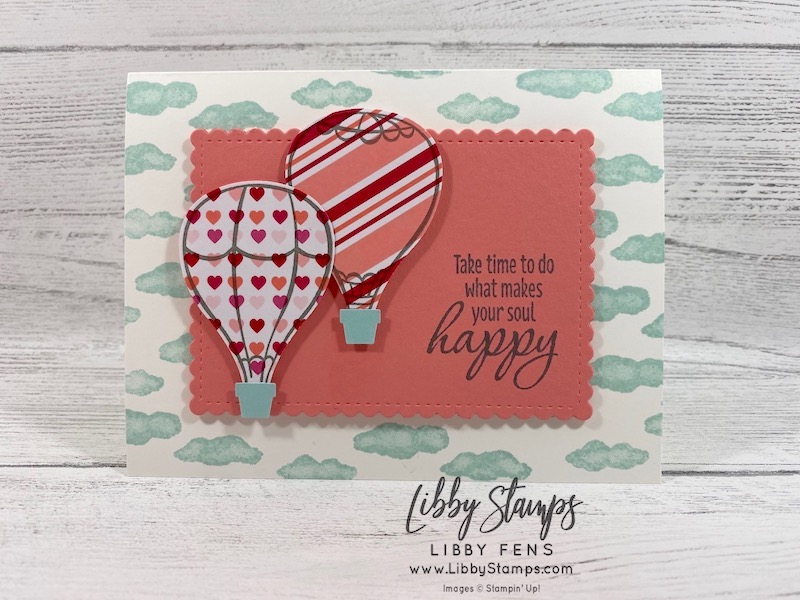 libbystamps, Stampin' Up!, Above the Clouds, Tasteful Textures, Stitched So Sweetly Dies, Above the Clouds Bundle, From My Heart DSP, Hot Air Balloon Punch, CCMC