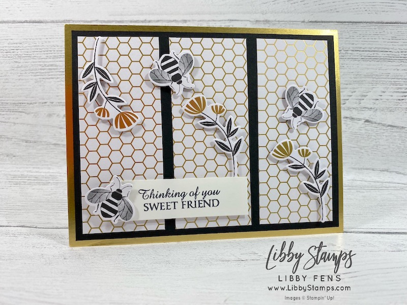 libbystamps, Stampin' Up!, Honey Bee, Detailed Bees, Honey Bee Bundle, Golden Honey DSP, CCMC