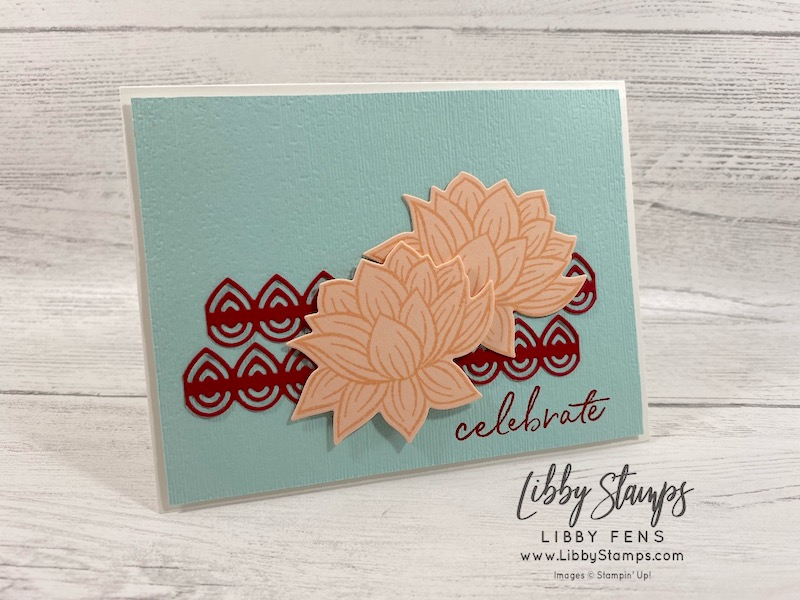 libbystamps, Stampin' Up!, Happy Birthday to You, Lily Pad Dies, Subtle Embossing Folder, Classic LabelPunch, CCMC