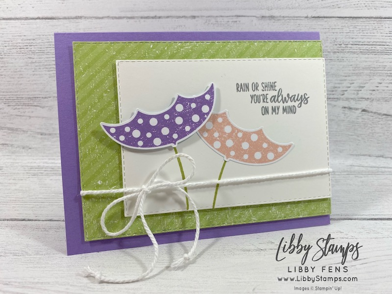 libbystamps, Stampin' Up!, Under My Umbrella, Stitched Rectangle Dies, Under My Umbrella Bundle, Pleased As Punch DSP, Sale-a-Bration 2nd Release, CCMC