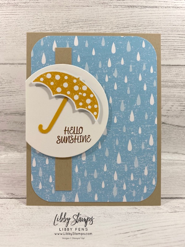 libbystamps, Stampin' Up!, Under My Umbrella, Layering Circles Dies, Under My Umbrella Bundle, Pleased As Punch DSP, Umbrella Builder Punch, TSOT