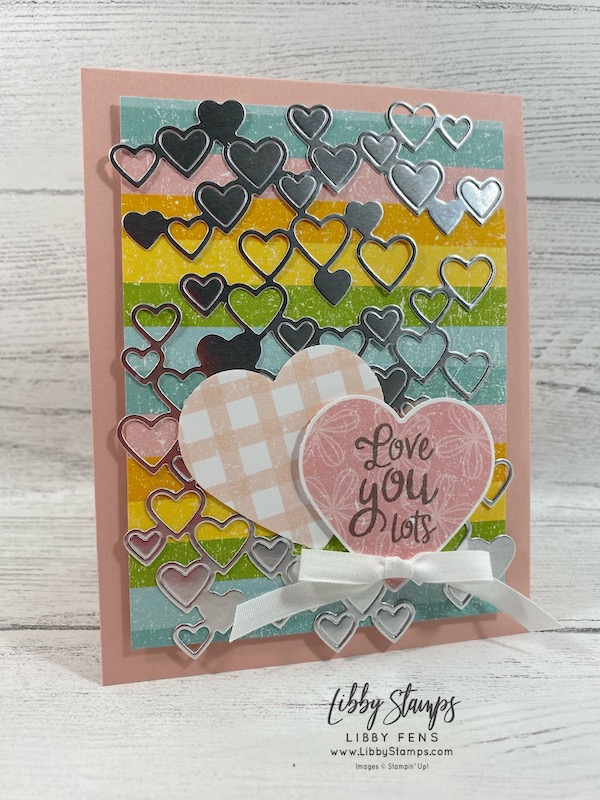 libbystamps, Stampin' Up!, Heartfelt, Detailed Hearts Die, Heartfelt Bundle, Pleased As Punch DSP, Heart Punch Pack, CCMC