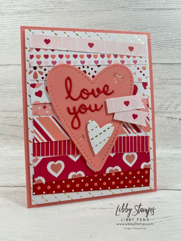 libbystamps, Stampin' Up!, Stitched Be Mine Dies, Well Written Dies, Heart Epoxy Droplets, TSOT