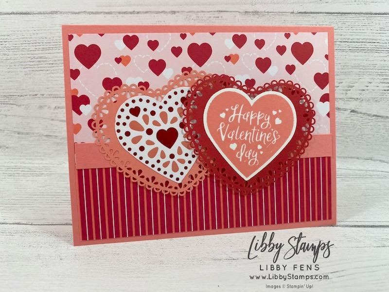 libbystamps, Stampin' Up!, Heartfelt, Heartfelt Bundle, From My Heart DSP, Heart Punch Pack, Heart Doilies, We Create