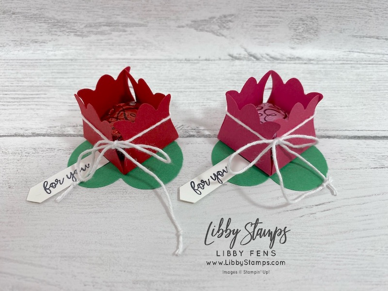 libbystamps, Stampin' Up!, So Sentimental, Tulip Builder Punch, Heart Punch Pack, treat holder, Valentine treat, CCMC